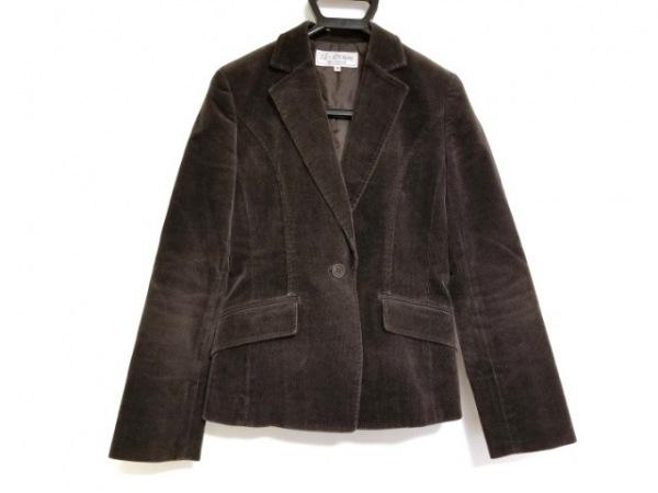 ヴァンドゥ オクトーブル ジャケット サイズ38 M レディース ダークブラウン