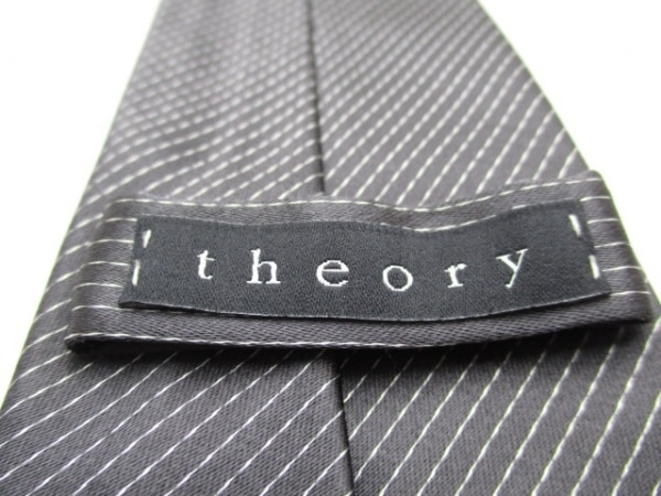 theory(セオリー) ネクタイ メンズ美品  ダークグレー×ライトグレー 3