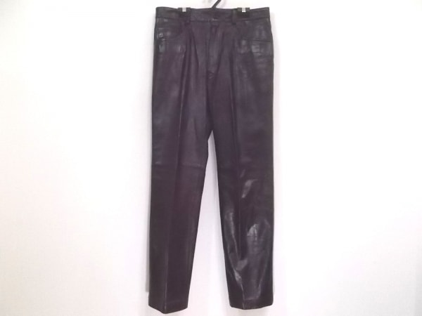 PaulSmith(ポールスミス) パンツ サイズ79 メンズ新品同様  黒 レザー