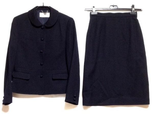 COURREGES(クレージュ) スカートスーツ サイズ9AR64 レディース ダークネイビー