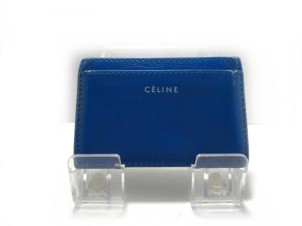 CELINE(セリーヌ) カードケース - ブルー レザー