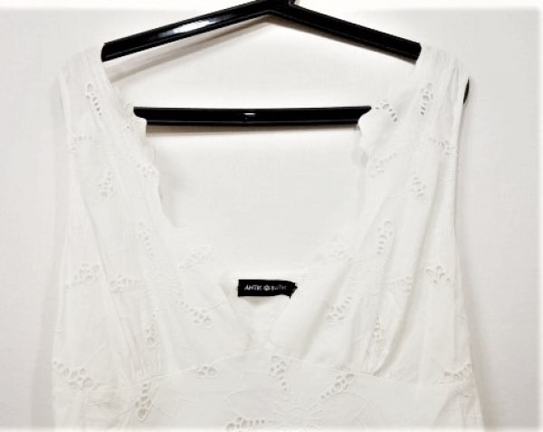 ANTIKBATIK(アンティックバティック) ワンピース サイズ38 M レディース 白 刺繍