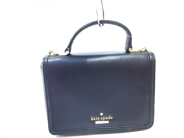 ケイトスペード ハンドバッグ美品  メイジー パターソン ドライブ WKRU5661 黒 レザー