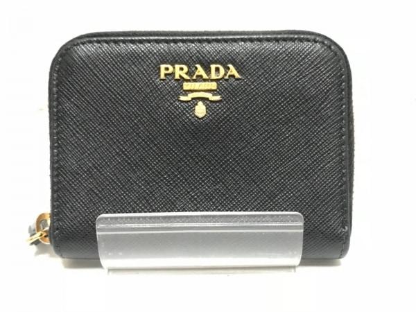 PRADA(プラダ) コインケース - 黒 ラウンドファスナー レザー