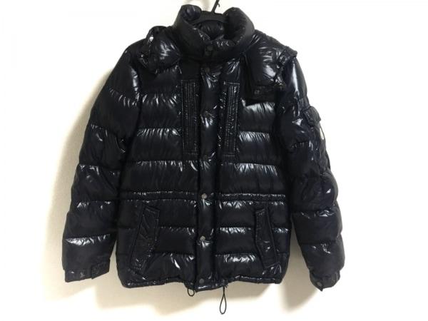 モンクレール ダウンジャケット サイズ1 S レディース美品  - ダークネイビー 冬物