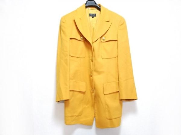 GUCCI(グッチ) ジャケット サイズ38 S レディース イエロー 肩パッド/冬物