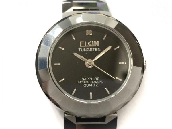 ELGIN(エルジン) 腕時計 FK1212-H レディース 1Pダイヤ 黒
