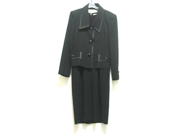 ユキサブロウワタナベ ワンピーススーツ サイズ11 M レディース 黒 肩パッド