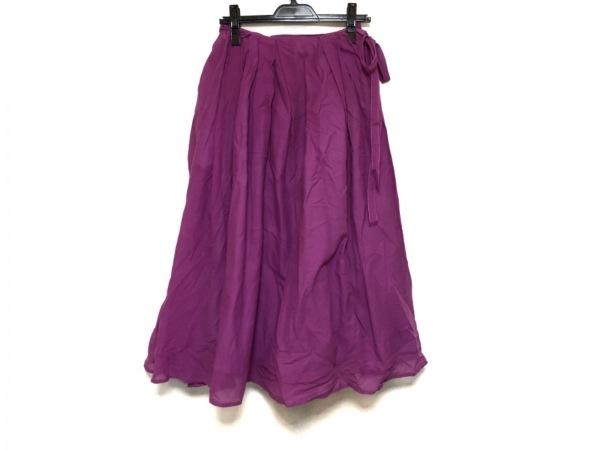ツルバイマリコオイカワ 巻きスカート レディース美品  ピンク