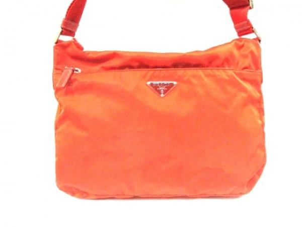 PRADA(プラダ) ショルダーバッグ - オレンジ ナイロン