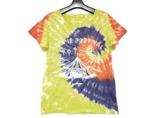 and wander(アンドワンダー) 半袖Tシャツ サイズ1 S メンズ イエロー×マルチ