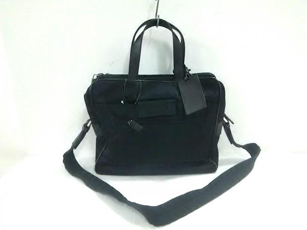 PRADA(プラダ) ビジネスバッグ美品  - VS0113 黒 ナイロン×レザー