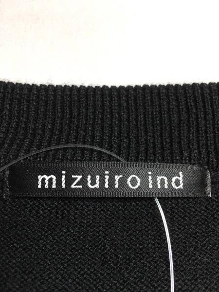 mizuiro  ind(ミズイロインド) ノースリーブセーター レディース 黒