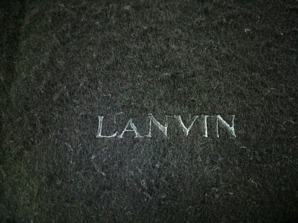 LANVIN(ランバン) マフラー 黒 カシミヤ 2