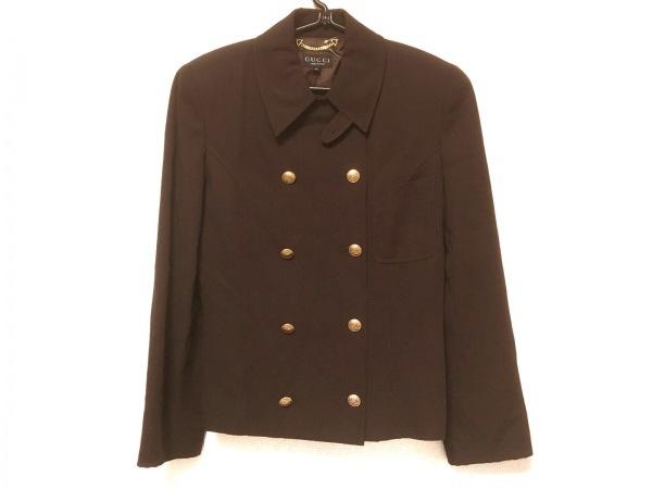 GUCCI(グッチ) ジャケット サイズ40 M レディース ダークブラウン 肩パッド