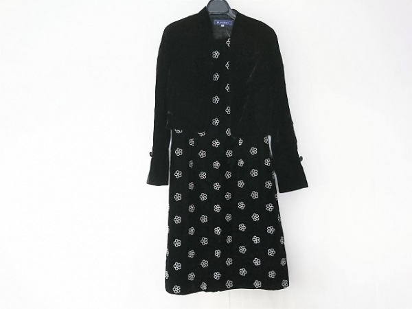 M'S GRACY(エムズグレイシー) ワンピーススーツ レディース 黒×白 ベロア/花柄
