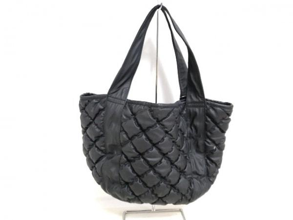 PAPILLONNER(パピヨネ) トートバッグ 黒 キルティング 化学繊維×合皮