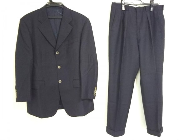 ギーブス&ホークス シングルスーツ メンズ ダークネイビー ネーム刺繍/3点セット