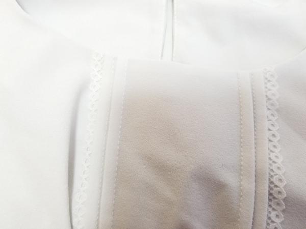 ティアクラッセ 七分袖カットソー サイズL レディース美品  ライトグレー レース