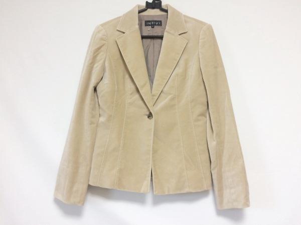 INDIVI(インディビ) ジャケット サイズ38 M レディース ライトブラウン 肩パッド