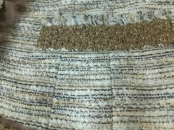 エポカ スカートスーツ サイズ40 M レディース美品  アイボリー×ベージュ×ゴールド