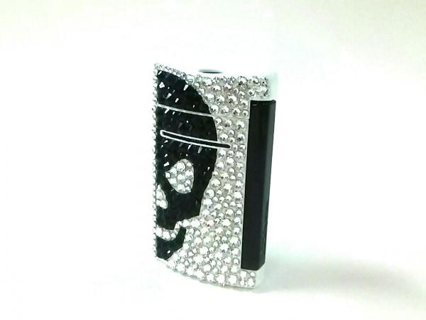 Dupont(デュポン) ライター美品  ミニジェット 10056 白×黒×クリア