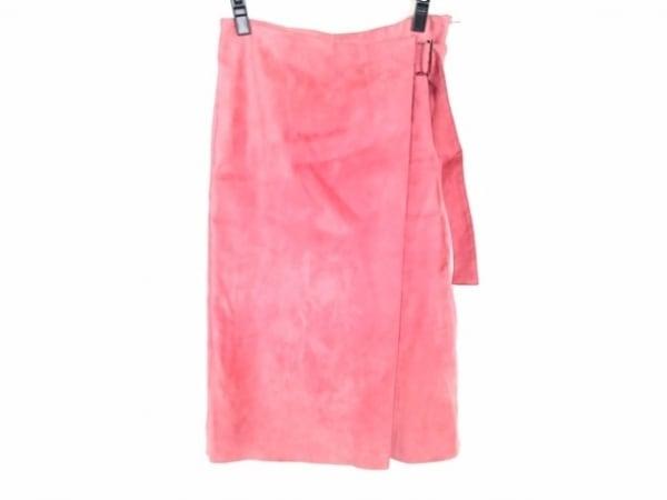 トゥモローランド ロングスカート サイズ36 S レディース ピンク フェイクレザー