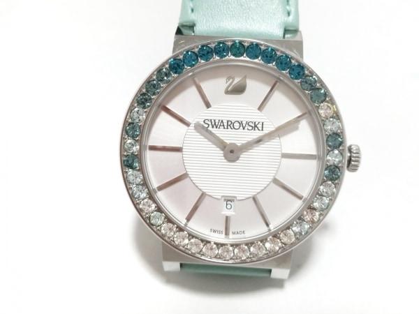SWAROVSKI(スワロフスキー) 腕時計 - レディース 革ベルト シルバー