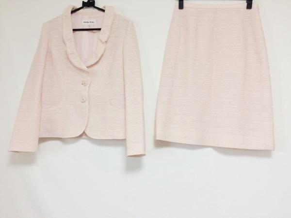 HANAE MORI(ハナエモリ) スカートスーツ サイズ38 M レディース ピンク ラメ