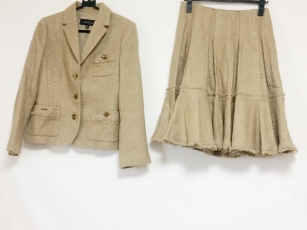 EPOCA(エポカ) スカートスーツ サイズ40 M レディース ブラウン