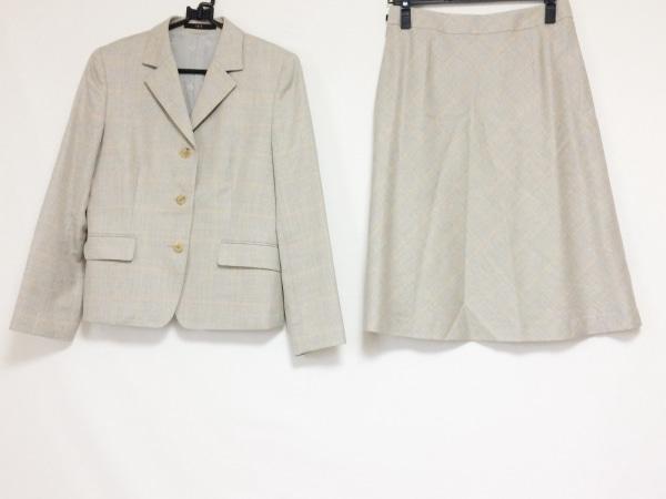 DAKS(ダックス) スカートスーツ サイズ40 L レディース グレー×オレンジ×マルチ