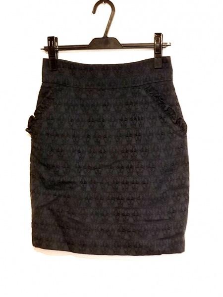 トーマスワイルド スカート サイズ2 M レディース ダークネイビー 刺繍/フリル