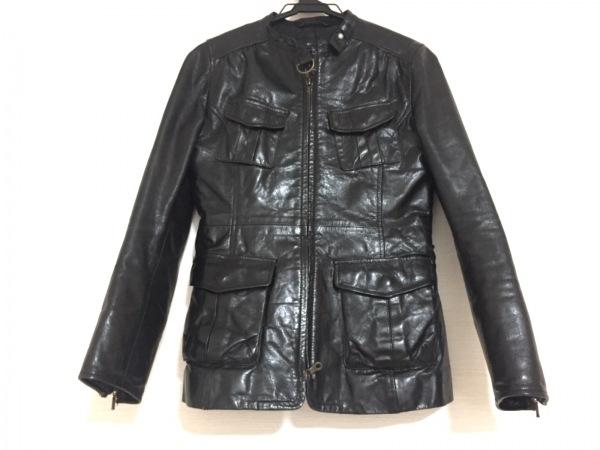 MACPHEE(マカフィ) ライダースジャケット サイズ38 M レディース 黒 レザー