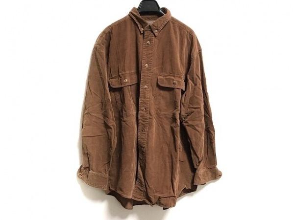 ARMANIJEANS(アルマーニジーンズ) 長袖シャツ サイズ39 メンズ ブラウン コーデュロイ