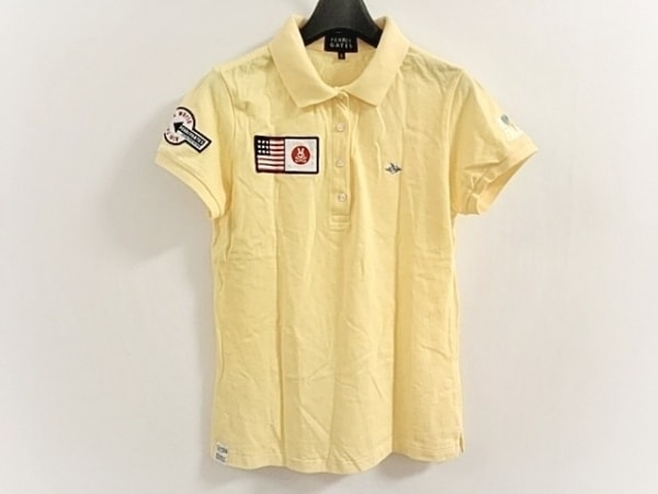 PEARLY GATES(パーリーゲイツ) 半袖ポロシャツ サイズ2 M レディース美品  イエロー