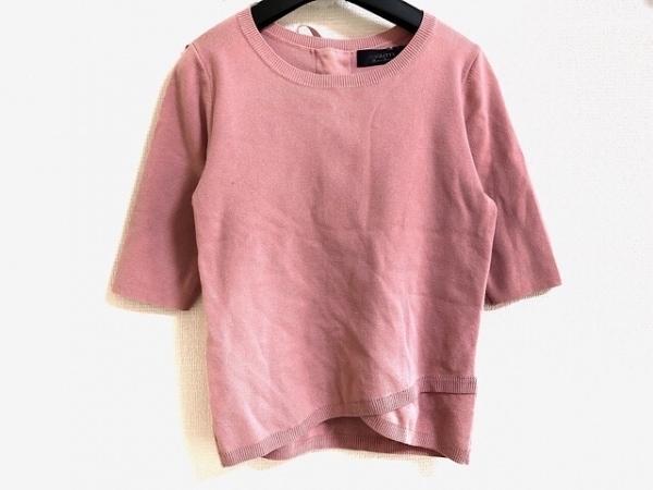 ジャスグリッティー 半袖カットソー サイズ2 M レディース ピンク ニット/リボン