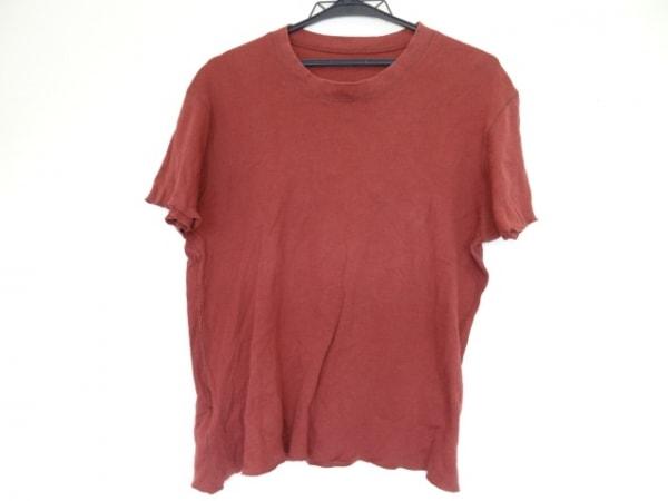 ルシアンペラフィネ 半袖Tシャツ サイズS レディース ボルドー×レッド ラメ