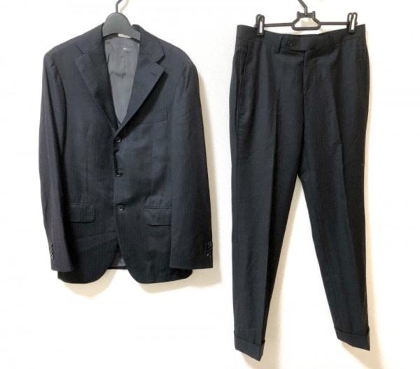 BRILLA(ブリラ) シングルスーツ サイズ44 L メンズ美品  黒 ヘリンボーン