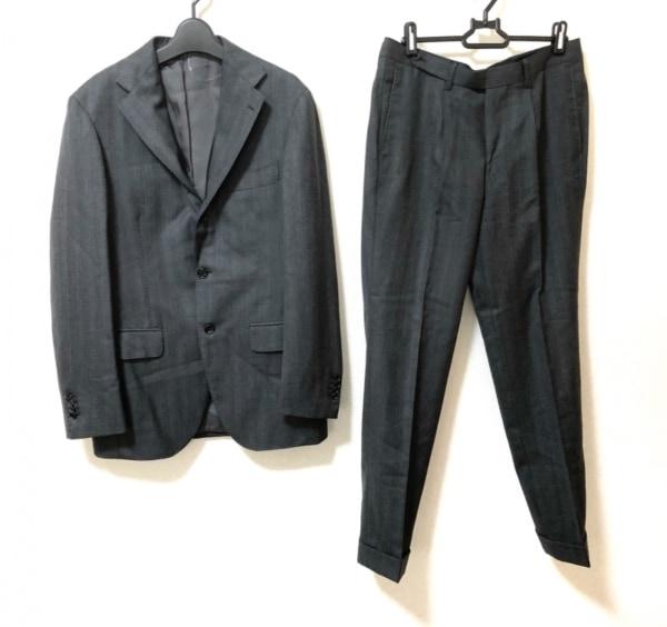 BRILLA(ブリラ) シングルスーツ サイズ46 XL メンズ美品  ダークグレー×グレー