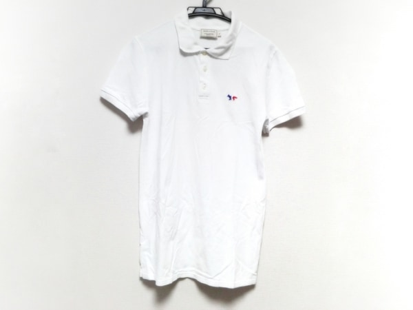 MAISON KITSUNE(メゾンキツネ) 半袖ポロシャツ サイズS メンズ 白
