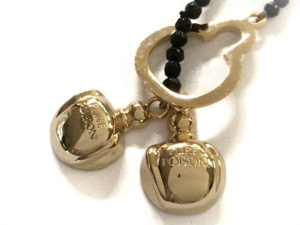 ディオールパフューム ネックレス美品  プラスチック×金属素材 黒×ゴールド