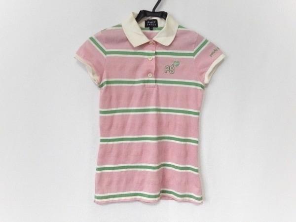 パーリーゲイツ 半袖ポロシャツ サイズ0 XS レディース美品  GOLF/ボーダー