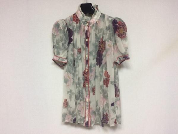 LEONARD(レオナール) 半袖シャツブラウス サイズ38 M レディース美品  シルク/花柄