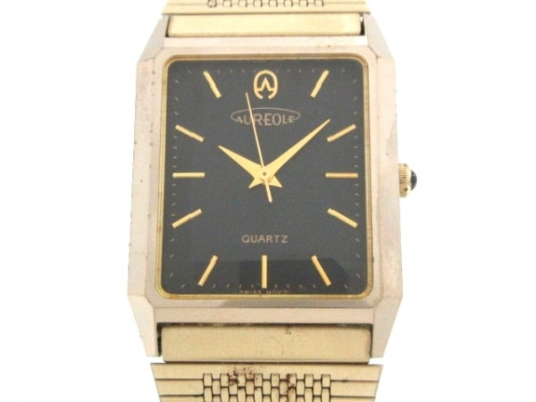 AUREOLE(オレオール) 腕時計 SW-116 メンズ 黒