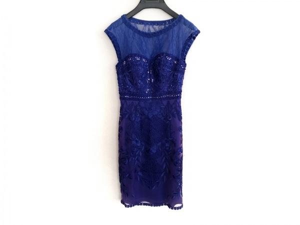 スーウォン ドレス サイズ0 XS レディース ブルー×パープル レース/ビジュー