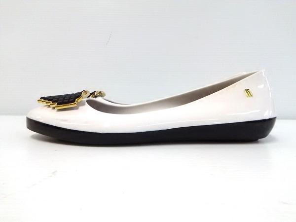 melissa(メリッサ) フラットシューズ レディース 白×黒 ハート ラバー