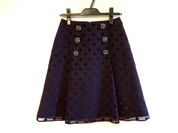 トゥービーシック スカート サイズ40 M レディース パープル ドット柄/ビジュー