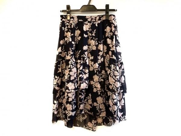 トゥービーシック スカート サイズ40 M レディース ネイビー×ピンク 花柄
