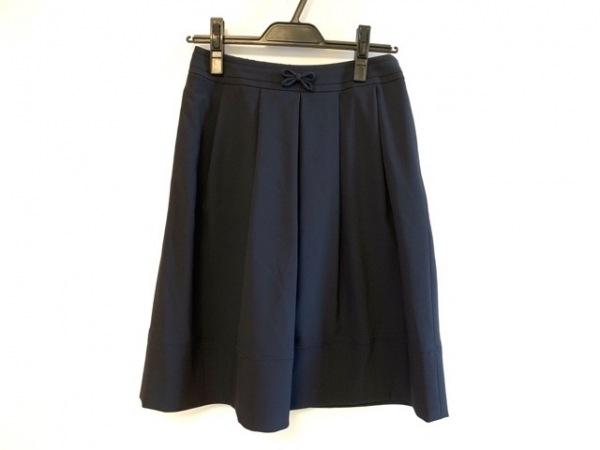 トゥービーシック スカート サイズ40 M レディース ダークネイビー リボン