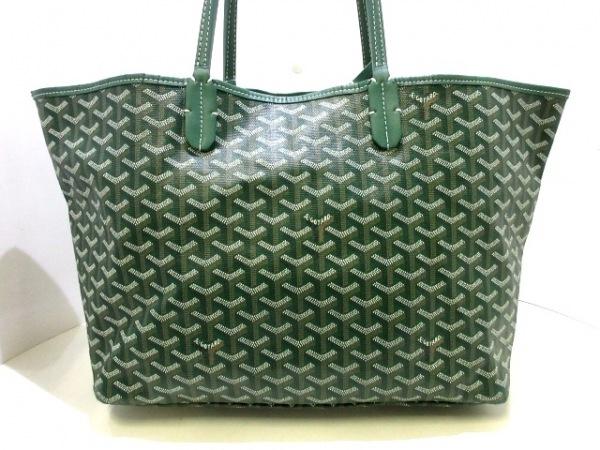 quality design 3ee9e 76091 GOYARD(ゴヤール) トートバッグ サンルイPM グリーン×白×ベージュ
